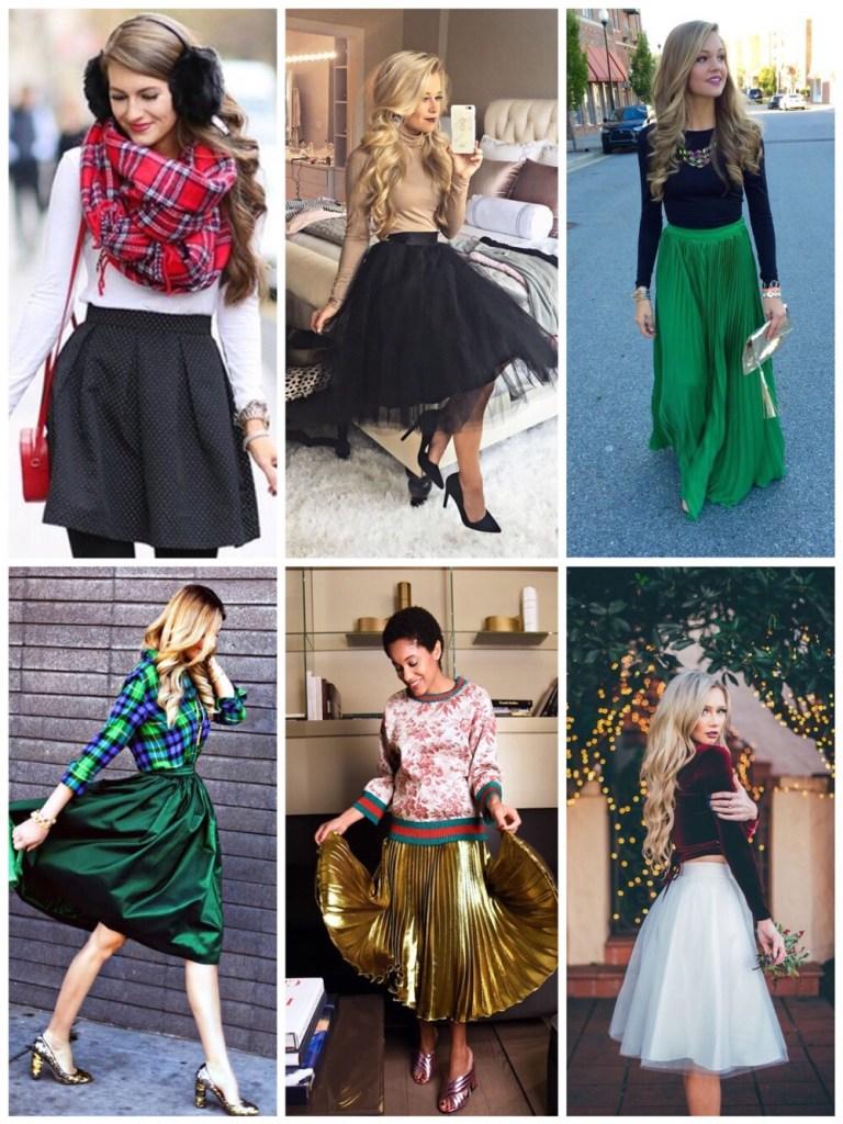 outfit voor de feestdagen: rok