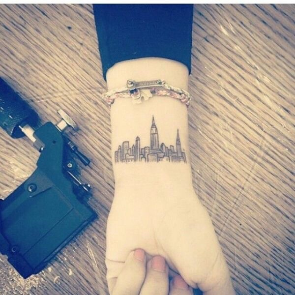 New York skyline tattoos pols
