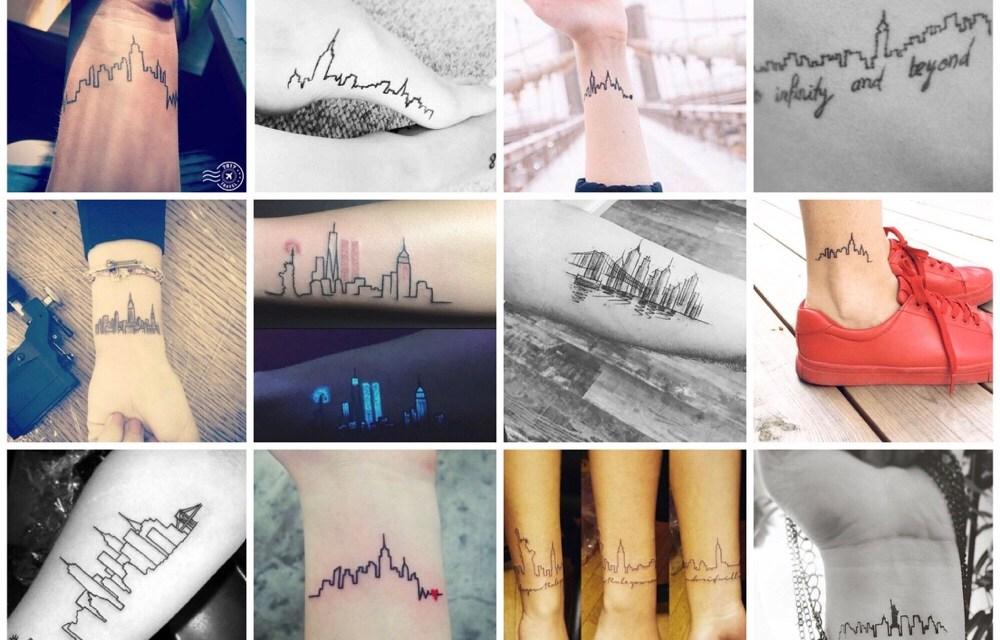 28x New York skyline tattoos