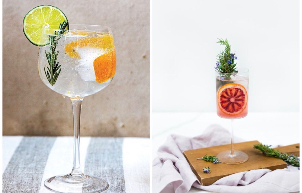 G&T o'clock: gin tonic met rozemarijn en sinaasappel