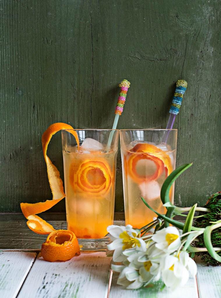 gin tonic met rozemarijn en sinaasappel