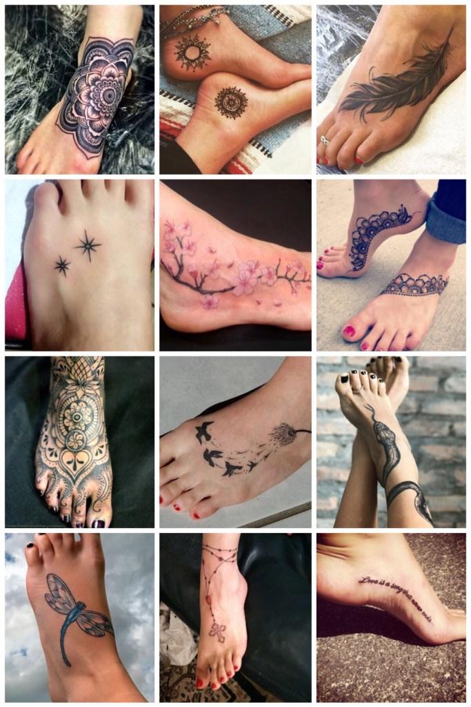 tattoo voor op de voet