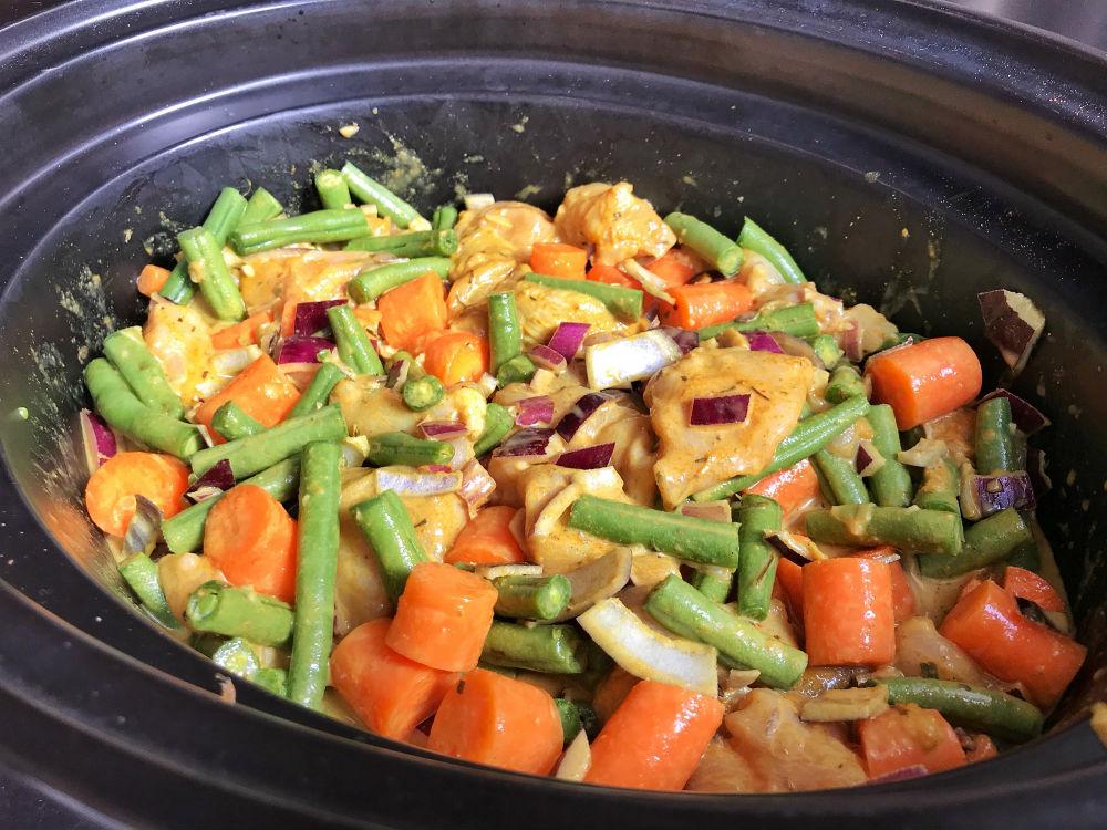 Jamaicaanse curry in slowcooker