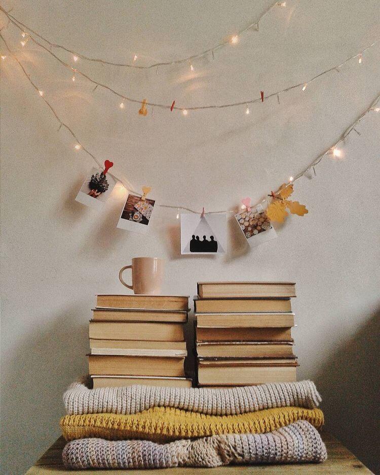 book piles