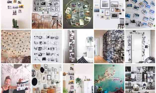 15x inspiratie voor een photo wall