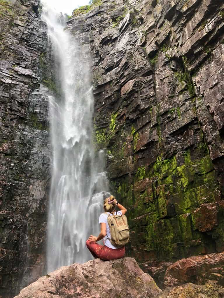 Nationaal park Fulufjället waterval