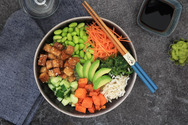 vegetarische poke bowl