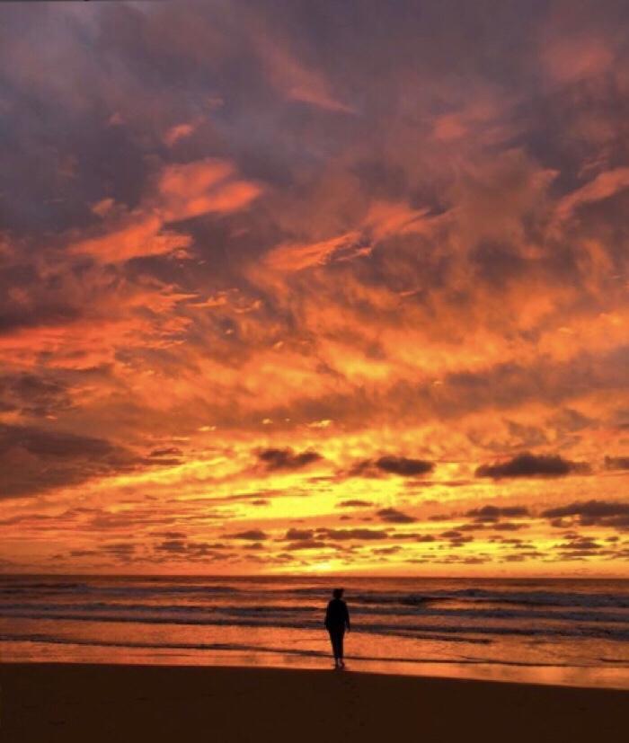 bijzondere zonsondergang Bloemendaal