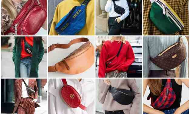 "Winnen: leren heuptasje (oftewel ""bum bag"") van Tuscany Leather"
