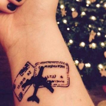 airplane tattoo inspiration