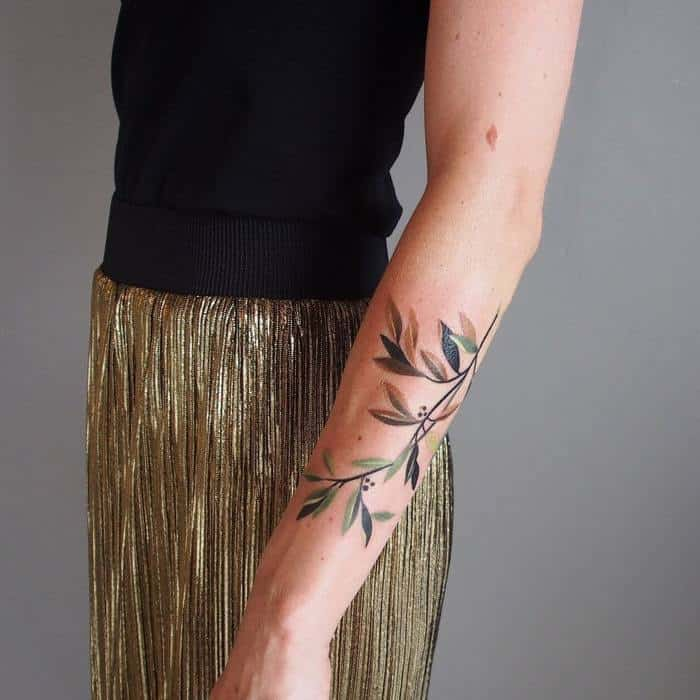 olive branch tattoo inspiration