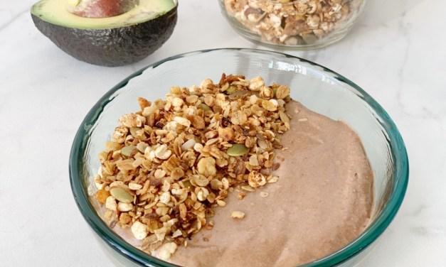 Chocoladesmoothie met avocado en banaan (suikervrij)
