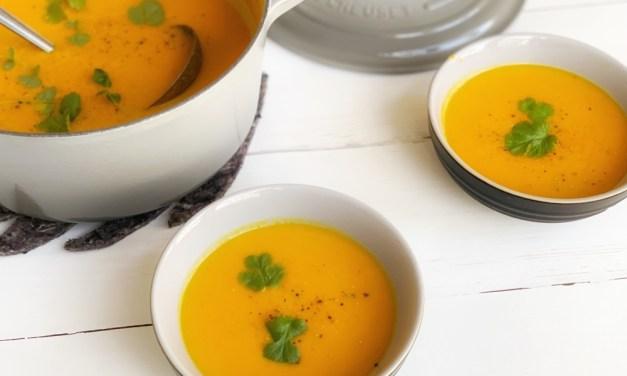 Recept voor wortel pompoensoep   lekker, makkelijk én gezond