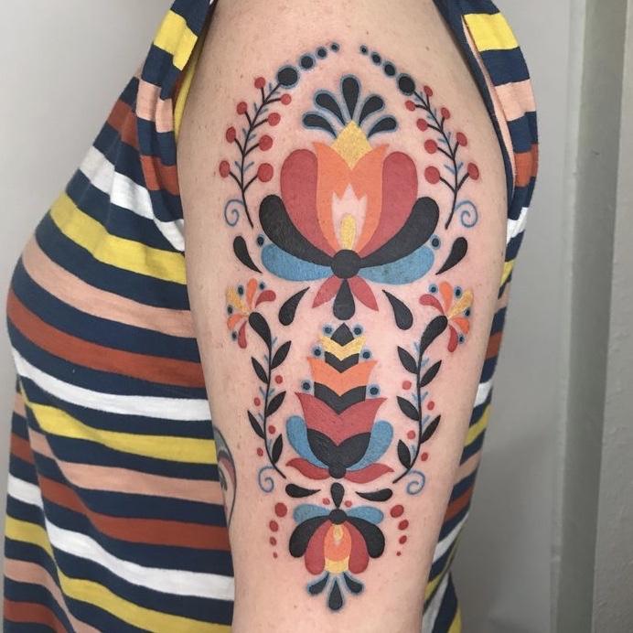 folk art tattoos