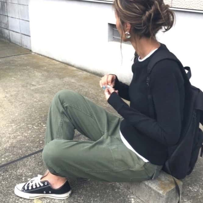 army pants and all stars
