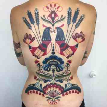 folk art tattoos by Winston