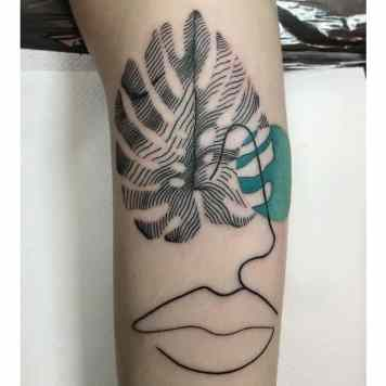 Monstera tattoo inspiration
