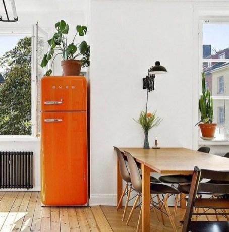 oranje smeg koelkast