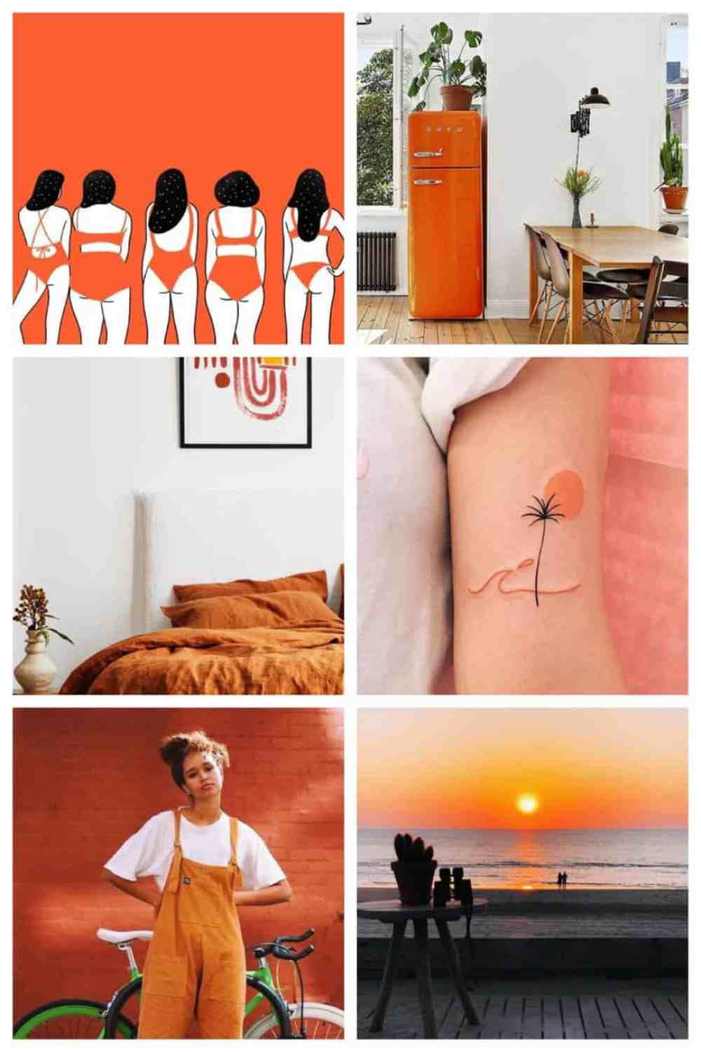 weekend finds: trendy oranje kleuren palet