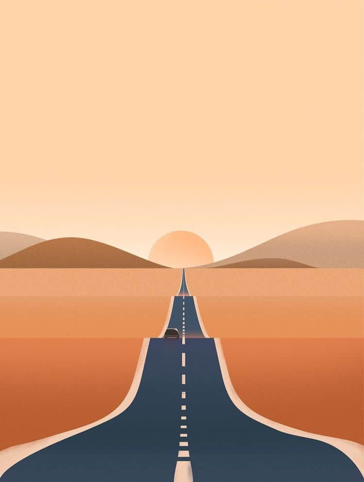 road trip graphic Route 66