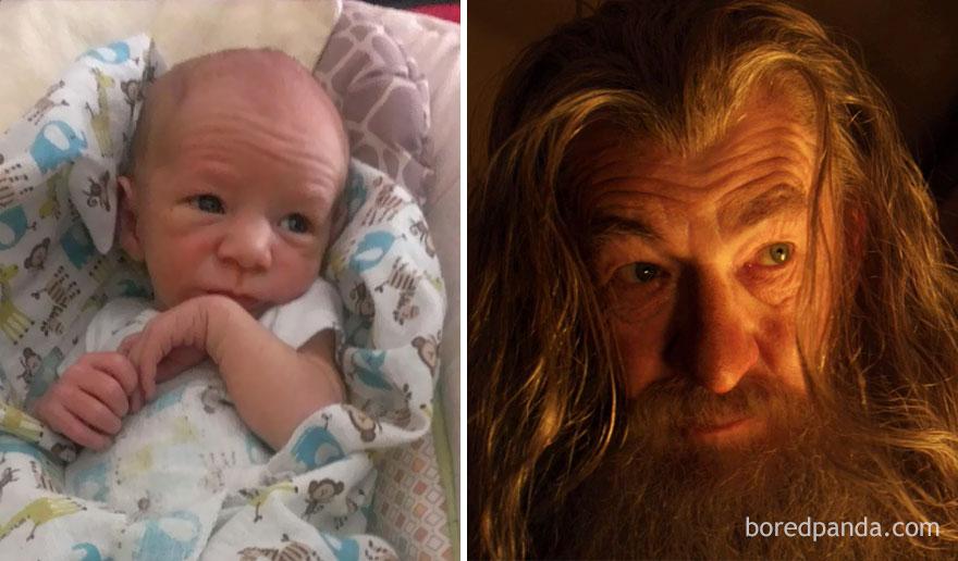 16 beroemdheden en hun baby-dubbelganger