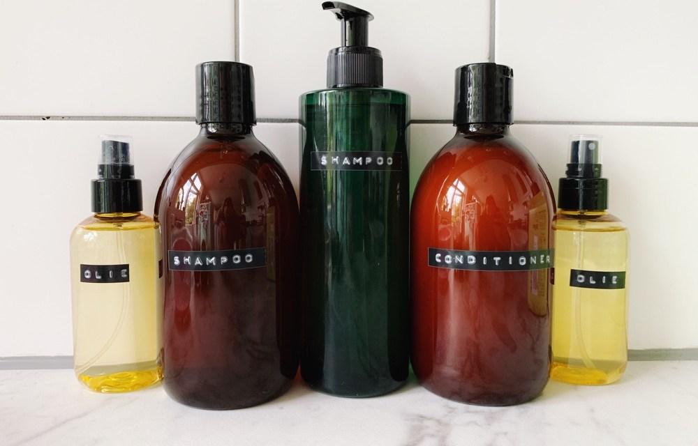 DIY: in 3 stappen mooie bruine flessen voor zeep en shampoo