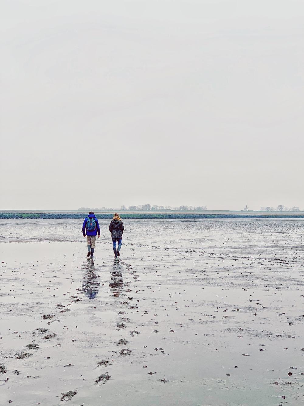 wandelen over het wad