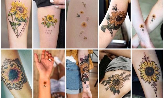 30x prachtige zonnebloem tattoos (en de betekenis)