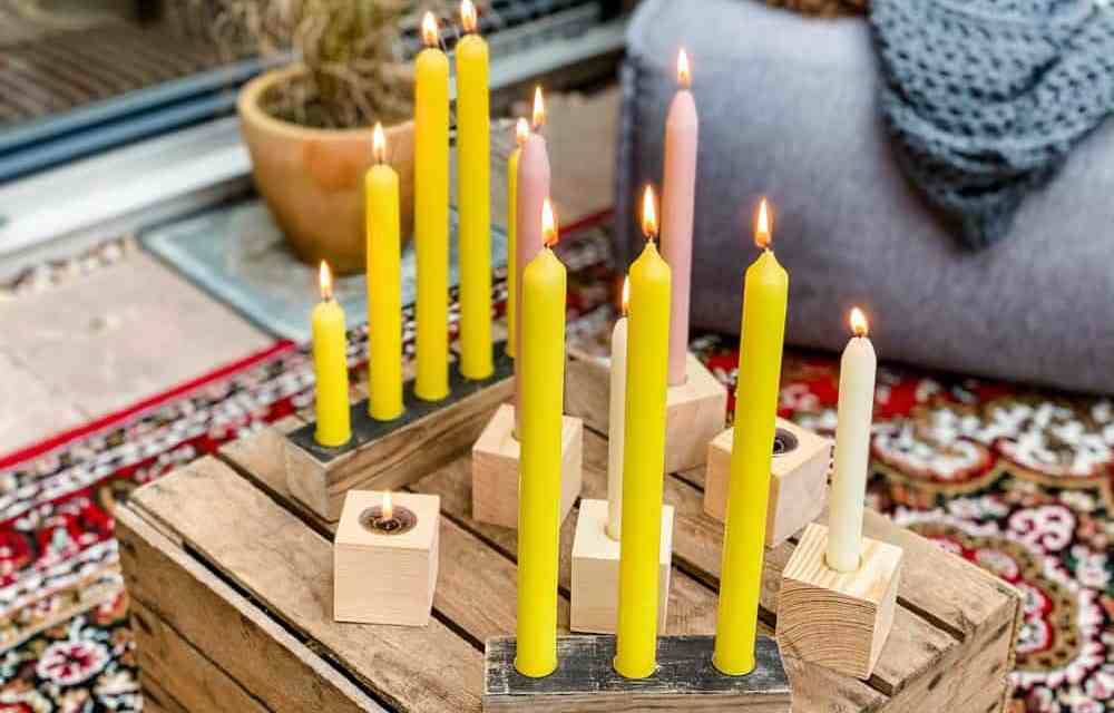 DIY: kaarsenstandaard van hout maken