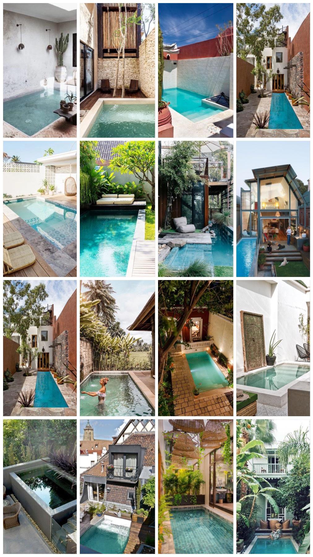 25x droom zwembad voor een stadstuin