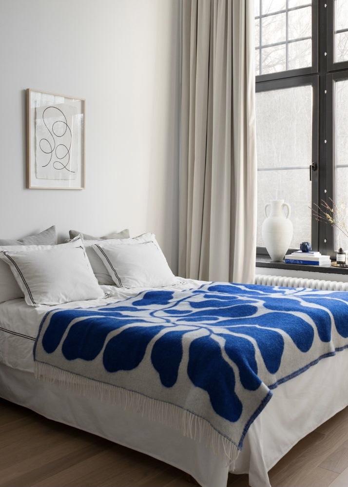 blauw in de slaapkamer
