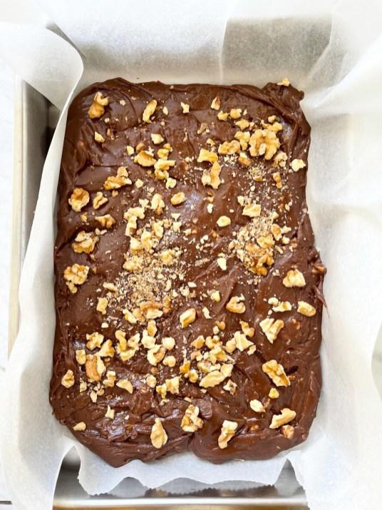 chocolade fudge uit de slowcooker