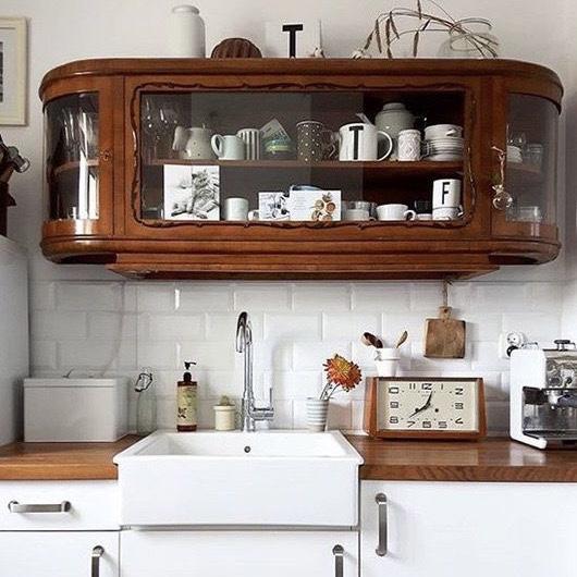 keuken moodboard antiek keukenkastje