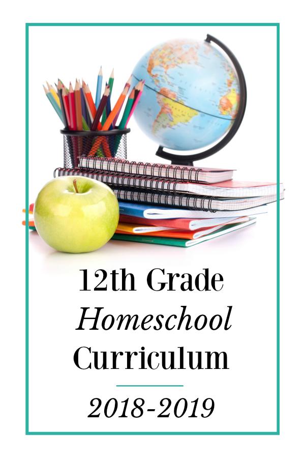 Homeschool Curriculum Choices- 12th Grade