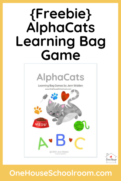 AlphaCats Learning Bag Game Freebie