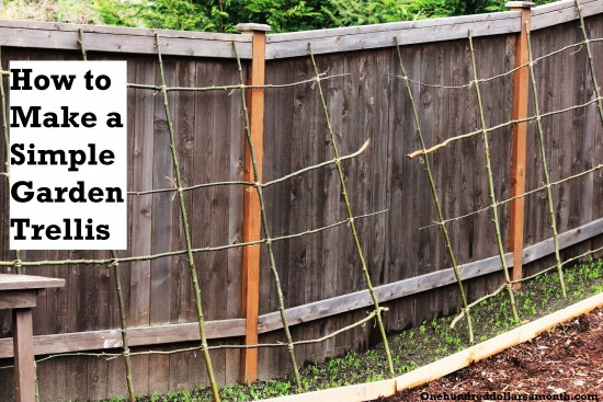how to make a simple pea bean garden trellis