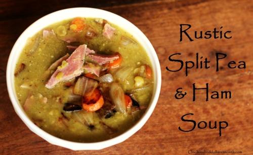 rustic pea soup