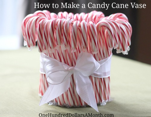how to make a candy cane vase 5
