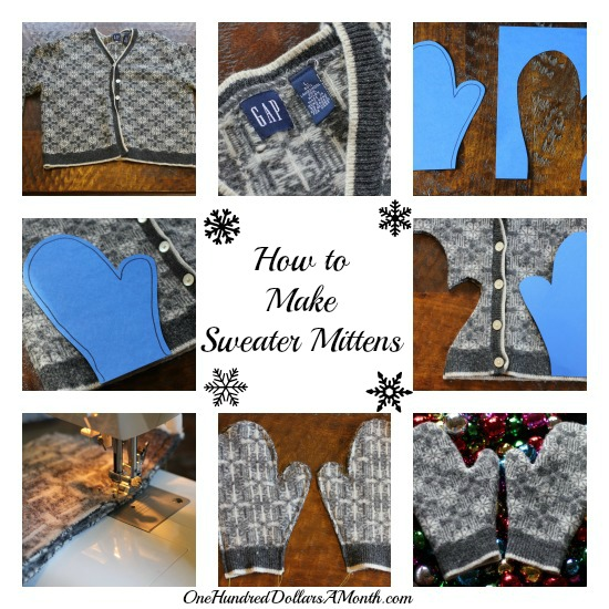 pattern how to make sweater mittens