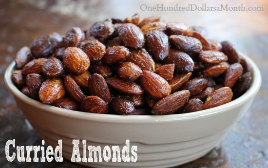 Easy Crock Pot Recipes - Curried Almonds