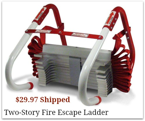 two story fire escape ladder