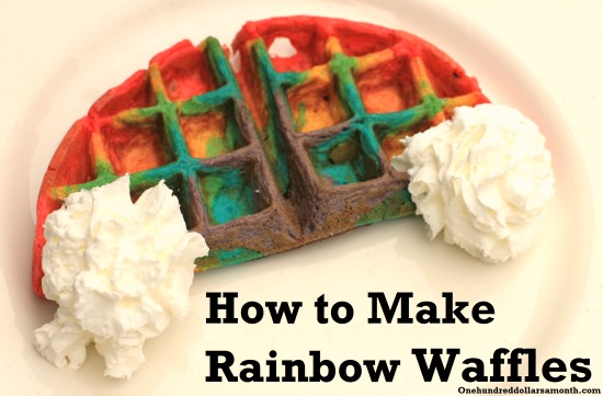 rainbow waffles