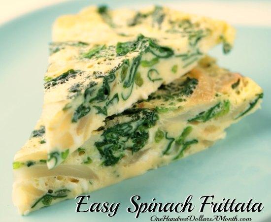 Easy Spinach Frittata Recipe
