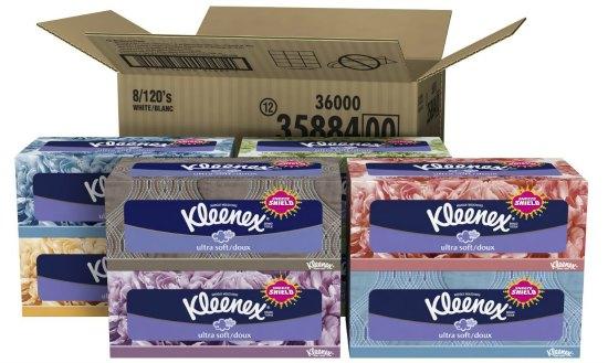 Kleenex Ultra Facial Tissue (8 Boxes)