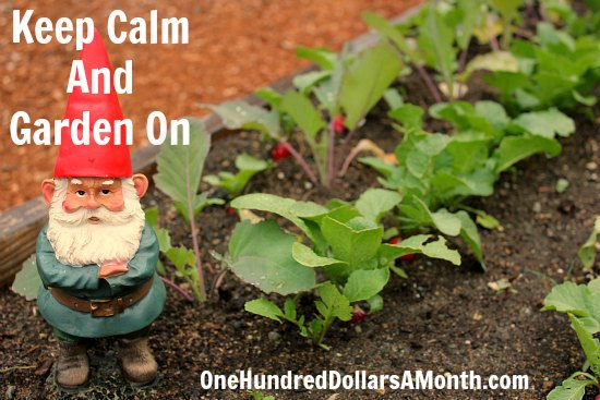 keep calm garden on