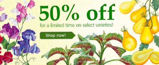 Botanical Interests Sale