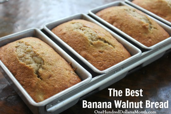 The Best Banana Walnut Bread