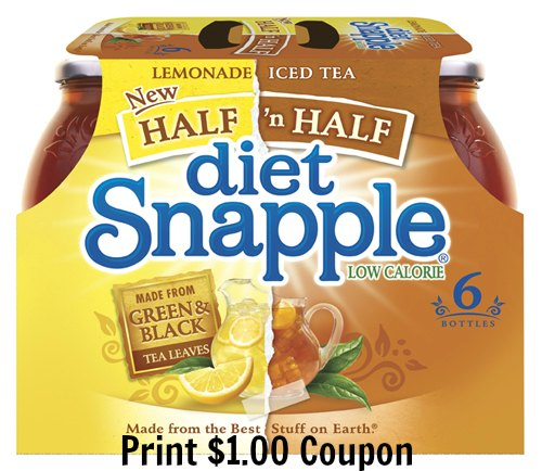 snapple half and half coupon