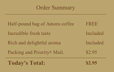 amora coffee deal