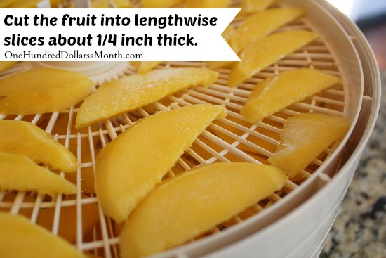 how to dehydrate mangos